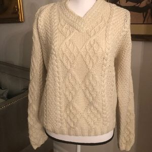 Worn Once!  Obermeyr Cableknit Wool Sweater